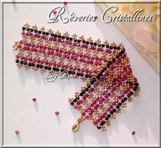 A pattern for bracelet Reverie by Laly_Rose from BeadsMagic. free schema. ~ Seed Bead Tutorials
