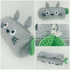 Totoro Crochet Pencil Case -PDF + Finished product by on DeviantArt - Amigurumis - Amigurumi Crochet Pencil Case, Pencil Case Pattern, Diy Pencil Case, Crochet Case, Crochet Purses, Crochet Gifts, Pencil Cases, Totoro Crochet, Kawaii Crochet