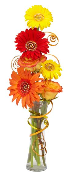 Wrap OASIS Flat Wire around a simple glass bud vase to take an arrangement from ordinary to  extraordinary.
