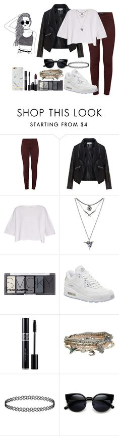 """""""#3 Type of Portuguese Girls"""" by towerpizza ❤ liked on Polyvore featuring J Brand, Zizzi, Helmut Lang, H&M, NIKE, MAC Cosmetics, Christian Dior and Aéropostale"""
