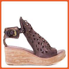 A.S. 98 Night 528026 Platform Heel Sandal in Brown Leather (36 EU) - Sandals for women (*Amazon Partner-Link)