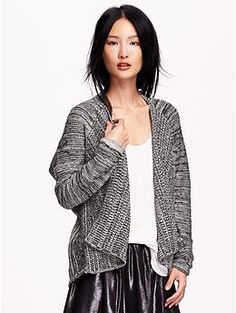 Women's Patterned-Hem Open-Front Cardigans | My Stylish Diggs ...