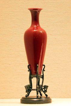 CHINESE__ Vase Qing dynasty Kangxi period Date: late century Culture: China Wooden Vase, Metal Vase, Ceramic Vase, Vase Centerpieces, Vases Decor, Eiffel Tower Vases, Old Vases, Paper Vase, Black Vase