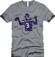 Russell Wilson RW3 Seattle Seahawks by CoastalClothingCo on Etsy 6fab2440a