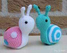 Stip & HAAK: Slakje Sofie  English translation downloaded as Pattern Snail Sofie
