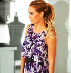 lauren conrad! I wish that my hair was this Beautiful in a ponytail.