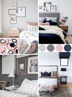 Good Information : Best Bedroom Colors Psychology - Bedroom Design Ideas Blue Teen Girl Bedroom, Gray Bedroom, Home Bedroom, Bedroom Wall, Diy Bedroom Decor, Bedroom Ideas, Master Bedroom, Stylish Bedroom, Gray Pink Bedrooms