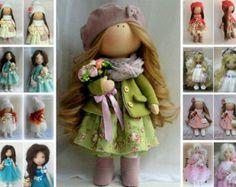 Nursery decor doll handmade doll Tilda doll di AnnKirillartPlace