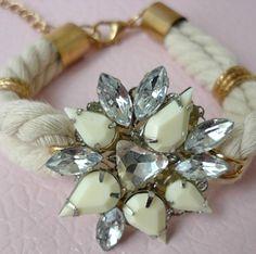 White rope statement bracelet - statement armband wit - Koop online op shoplikesuze.nl