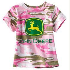 Pink Camo Tee, John Deere Tractor Little Girls « Clothing Impulse