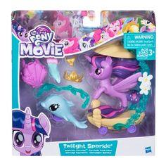 Nouveau My Little Pony The Movie Paillettes /& Style Seapony avec Accessoires-Officiel