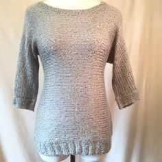 Sparkly gray sweater Perfect with tights or jeans. Why not add a little sparkle to your outfit? Like new. No trades, please. Pink Rose Sweaters Crew & Scoop Necks