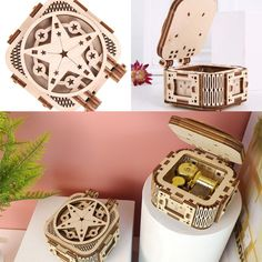 Perfect gift for kids. Assembly time:about 30minsRecommend age: 14+ #gift #present #musicbox #cute Wooden Model Kits, Castle In The Sky, Wooden Puzzles, Michael Kors Watch, Gifts For Kids, Bracelet Watch, Age, Stars, Music