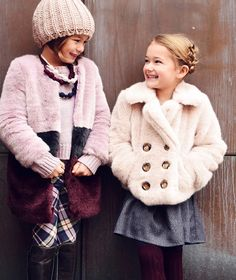 Fall 2015 Kids Fashion, aw15: Imoga's cozy yet elegant faux fur Fiona Coat...