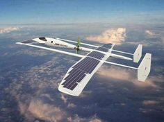 Suntoucher solar powered aircraft concept. A concept aircraft which has the capability of flying for several hundred miles without fuel. Developed by samuel nicz, it uses solar energy collected from the photovoltaic cells installed across its large wingspan of 70m to power its AC engine, which is situated in the middle of the glider's fuselage. the lightweight construction is designed to be environmentally friendly, and economically fly over long distances, at an average speed of 100 km/h.