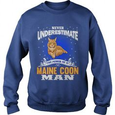 The Power Of A Maine Coon Man Cat Crew Sweatshirts T-Shirts, Hoodies ==►► Click Order This Shirt NOW!