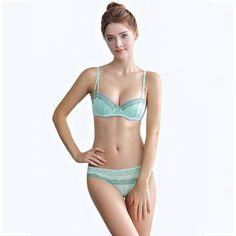 AMX  Women Sexy Lace Bra and Brief Set Fashion Lingerie Female Plus Size Underwear #plussizefashionlingerie