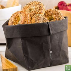 Washable paper bags for stylish shopping, decorative storage, and chic gift wrap by Restaurantware. Change the way you display and decorate with Restaurantware. #washable #bags #decorative #storage #bread #bagels #strong #paper #beautiful