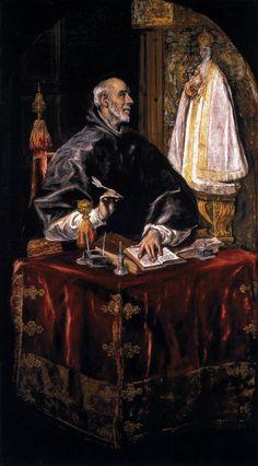 SAN ILDEFONSO // 1603-1605 //El Greco |  Santuario – Hospital de la Caridad de Illescas (Toledo) // #SaintIldefonso
