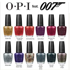 I want this WHOLE collection!! I'm a HUGE Bond fan! Have been one since I was a little girl! I've actually seen almost all of the polish titles except for 2.