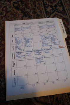 Organizing MFW 1st Grade