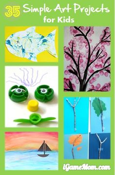 35 simple art ideas for kids #LearnActivities