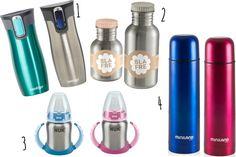 Botellas reutilizables de acero inoxidable para niños