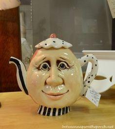 Mary Engelbreit ~ For A Spot of Tea Teapots Unique, Ideas Prácticas, Pretty Bedroom, Ceramic Teapots, Pottery Teapots, Tea Pot Set, Teapots And Cups, My Cup Of Tea, Chocolate Pots