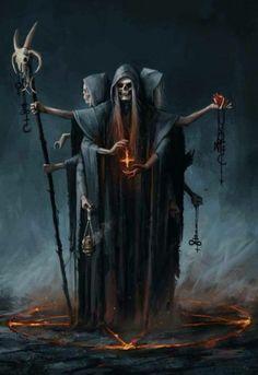 Der Tod oder auch manchmal der Teufel dargestellt in der Kunst. there is nothing but on it, becaus Dark Fantasy Art, Fantasy Kunst, Fantasy Artwork, Dark Art, Fantasy Demon, Arte Horror, Horror Art, Gothic Horror, Art Macabre