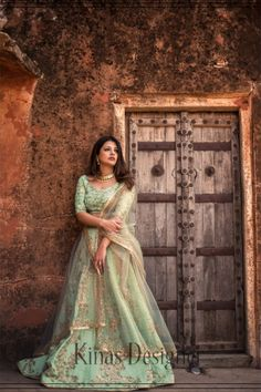 --->Kinas Designer is your one-stop shop for all types of Bridal Wear Collection. --->For more information contact us (Call/Whatsapp): +91 78028 85280 #lehenga #bridallehenga #weddinglenega #designerlehenga #lehengacholi #indianwedding #indianfashion #indianbride #weddingdress #bridalwear #bridal #indianwear#anarkalilehenga #bride #instafashion #style #traditionallehenga#india #sabyasanchi #manishmalhotra #handworklehenga New Lehenga, Green Lehenga, Lehenga Skirt, Lengha Choli, Lehenga Style, Party Wear Lehenga, Indian Lehenga, Silk Lehenga, Party Wear Dresses