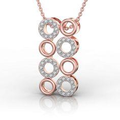 Hoopla Party with Rock and Metal in Pink Gold Pendant Diamonds And Gold, Gold Pendant, Party Wear, Pink And Gold, Diamond Jewelry, Jewelry Collection, Crochet Earrings, Pendants, Drop Earrings