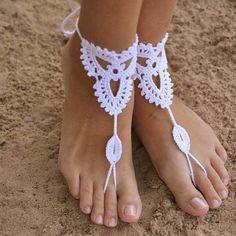 Sexy Ruční lanové šperku háčkování Barefoot sandály Nevěsty boty Beach Pool jóga plážové oblečení šperku Hippy Boho Foot šperky 1pair-in Ponožky z šperky a příslušenství na Aliexpress.com | Alibaba Group