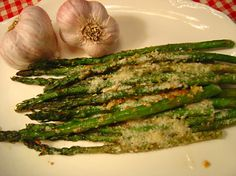 Such a wonderful and simple presentation of one of springs best vegetables with the irresistible flavor of garlic. So easy to make- (but no one has to know how easy it is!!!)