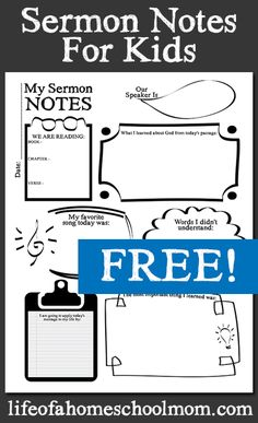 Help your children stay focused and engaged during church services by following along using this free sermon notes worksheet.