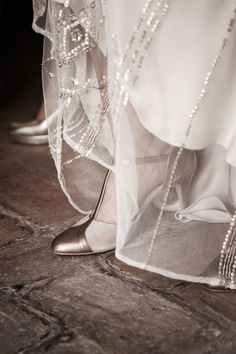 Detail from a wedding. Wedding shoes