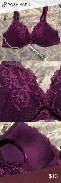 ⚡️VS 34C Pushup⚡️ Victoria's Secret Purple 34C Push Up. Used but Great condition   ❗️No Trades❗️ ❗️Proceeds go towards feeding the homeless❗️ Victoria's Secret Intimates & Sleepwear Bras