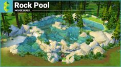 The Sims 4 House Building - Rock Pool (Underwater House) Sims 4 House Building, Grow Home, Underwater House, Reading At Home, Reading Nooks, Outside Plants, Small Greenhouse, Greenhouse Ideas, Aquaponics Plants