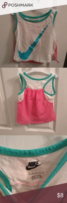 🎆5 for $25🎆Nike tank with pink mesh back Great condition, mesh back and Nike logo on front. Super cute! Size 2t. Take advantage of my 5 for $25 deal!! Nike Shirts & Tops Tank Tops