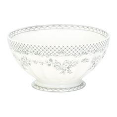 GreenGate Stoneware French Bowl Stephanie Warm Grey XLarge D 13,5 cm