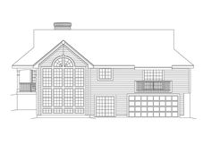 Traditional House Plan Rear Elevation - 007D-0075 | House Plans and More