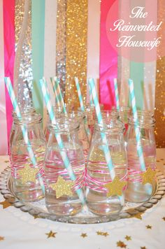 Twinkle twinkle little star baby shower from The Reinvented Housewife! gold…