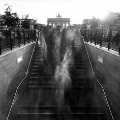 Pinhole photography -- 7 Questions: Frank Machalowski On 'Monsters,' His Eerie Long Exposure Photos of Crowds Motion Blur Photography, Shutter Speed Photography, Time Photography, Exposure Photography, Photography Projects, People Photography, Creative Photography, Street Photography, Eerie Photography