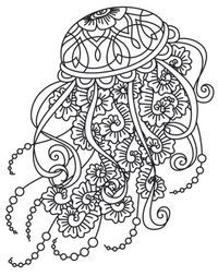 Drifting Jellyfish Coloring Pages