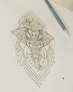 Elephant mehndi tattoo sketch                                                                                                                                                                                 More
