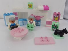 Lego Duplo Grandma's Kitchen Vintage Building Block Set 2551 Pastel Pink Green  #LEGO