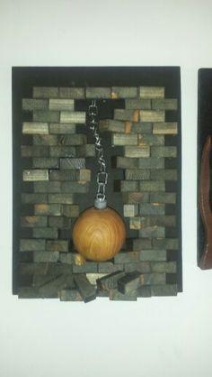Busted blocks wood design