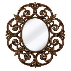 Majestic Mirror Large Traditional Round Decorative Oval Shaped Beveled Glass Wall Mirror & Reviews   Wayfair