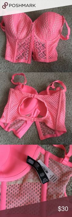 New neon corset 32dd new with tags. Price firm PINK Victoria's Secret Intimates & Sleepwear Bras