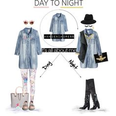 """Day to Night Denim Look"" by every-me on Polyvore"
