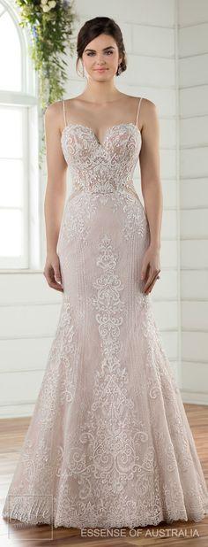 Wedding Dress by Essense of Australia Fall 2017 #weddingdresses #weddinggowns #bridaldress #bride #bridal #bridalgown #brides #weddings